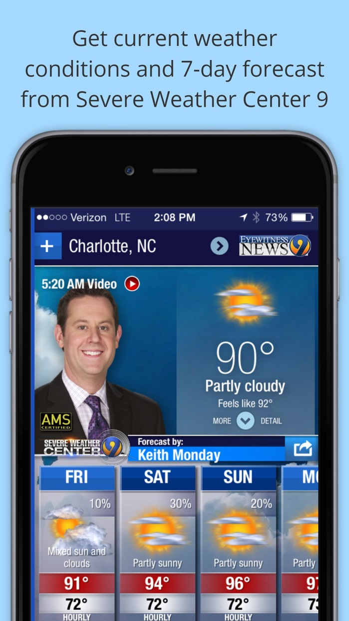 WSOC-TV Channel 9 Weather App Screenshot