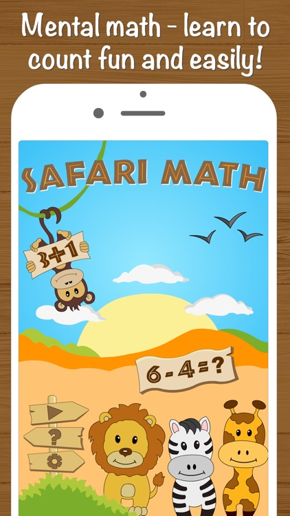 Safari Math - Addition and Subtraction game for kids screenshot-0