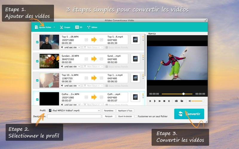 Screenshot 4Video Convertisseur vidéo