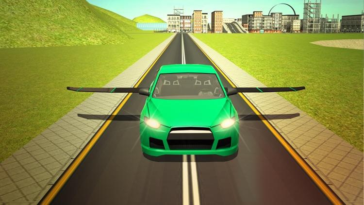 Flying Sport Car Extreme Real Racing 3d simulator screenshot-4