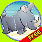 verry funny jungle animals for kids - free icon