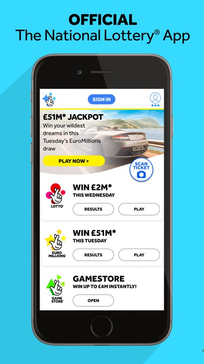 The National Lottery: Official App screenshot-0