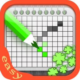 Easy Patrick Crossword - Best Green Nonogram