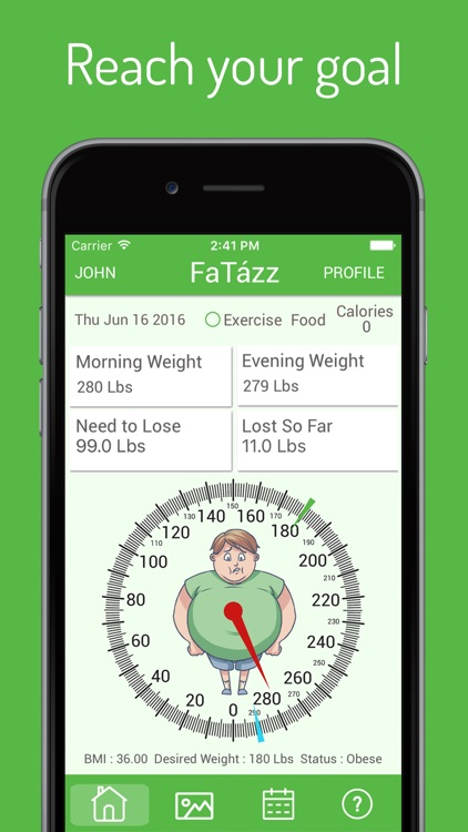 Fatazz – Weight Loss Motivation Program Calorie Counter & Diet Exercise Tracker Helps to Lose Weight