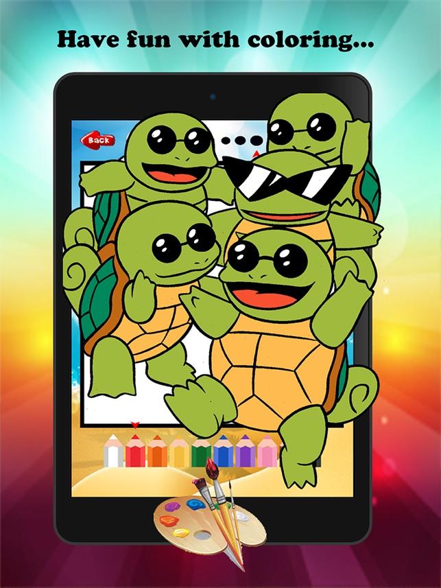 Kaplumbaga Karikatur Boya Ve Boyama Kitabi Ogrenme Becerileri