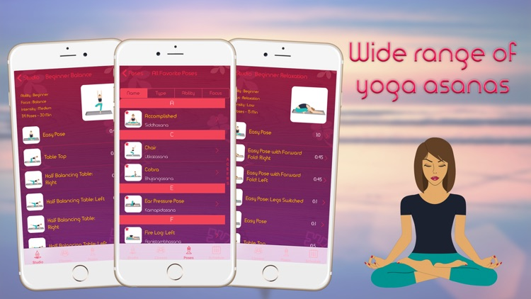 Instant Yoga Home Studio - Yoga Poses Breathing, Stretches and Exercises Training screenshot-3