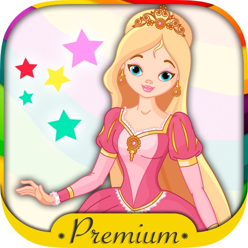 Color and paint drawings of Princesses with magic marker my princess - Premium
