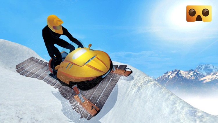 Snowmobile Simulator : VR Game for Google Cardboard