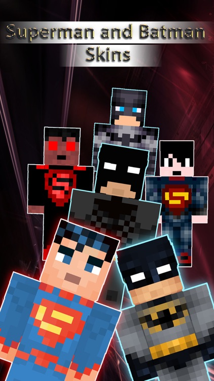 Batman & Superman Skins Collection - for Minecraft Pocket Edition Lite
