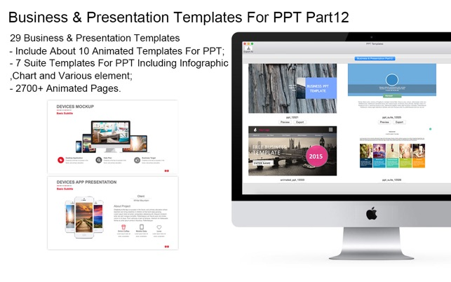 templates for ppt business presentation part12 pack12 をmac app