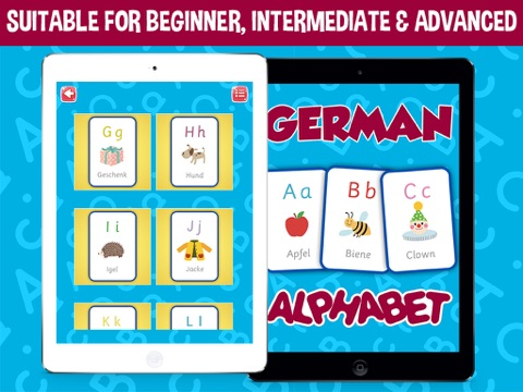 German Alphabets Flash Cards - Learn German for Kids | App