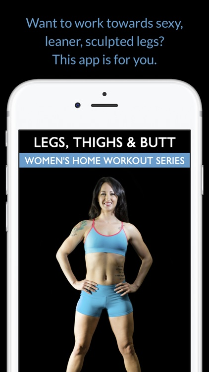 Legs, Thighs & Butt: Women's Home Workout Series