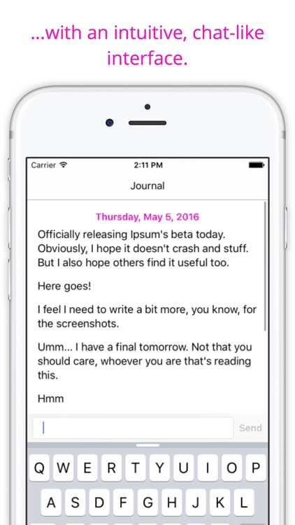 Ipsum — Chat with your Journal
