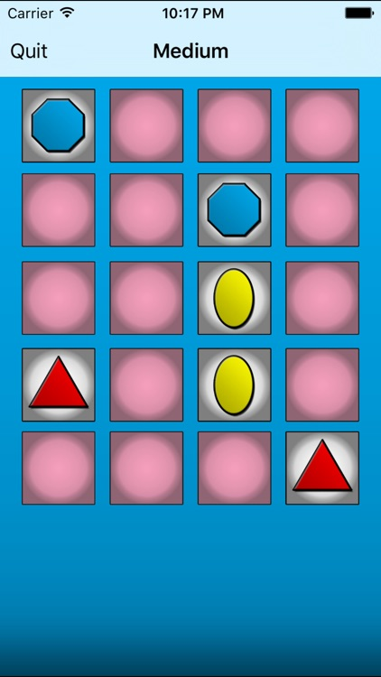 Shapes & Colors Memory Game
