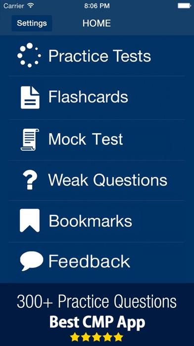 CIC CMP - Q&A Exam Prep Guide Screenshot on iOS