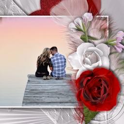 Rose Flowers Photo Frame - Make Awesome Photo using beautiful Photo Frames