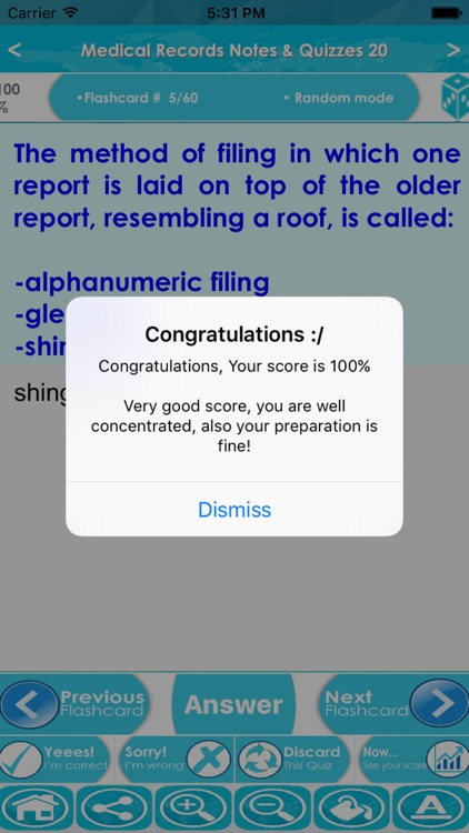 Medical Records Test Bank & Exam Review App : 1200 Study Notes, flashcards, Concepts & Practice Quiz screenshot-4