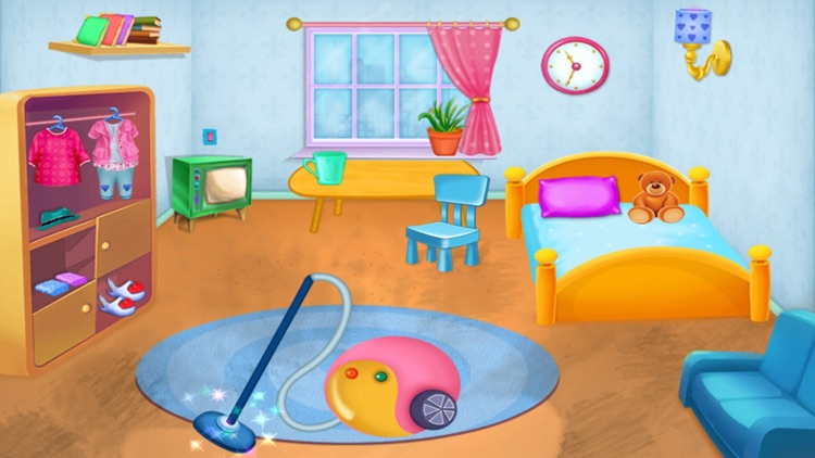 Clean Up - House Cleaning : cleaning games & activities in this game for kids and girls - FREE screenshot-3