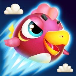 愤怒的小鸡-一只愤怒的小鸡勇敢的大战着怪兽 看,它又生气了!!!