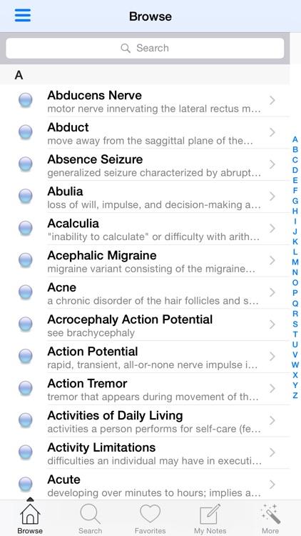 1000 Neurology Medical Dictionary screenshot-3