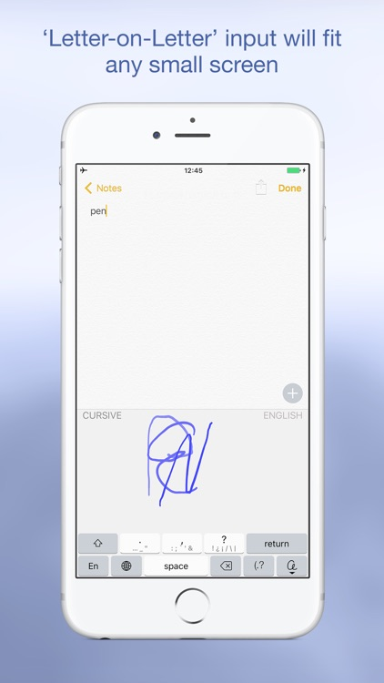 PenReader handwriting recognition
