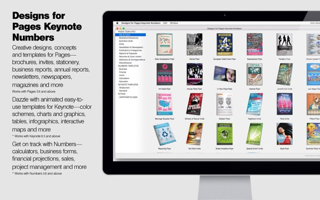 Design templates for iwork pages keynote numbers na mac app store stopboris Gallery