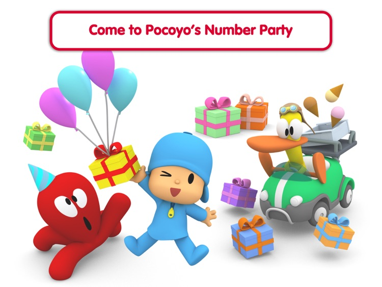 Pocoyo Playset - Number Party
