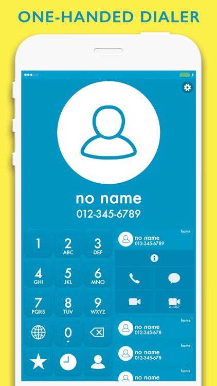 HiveDialer - customizable one-handed dialer screenshot-0
