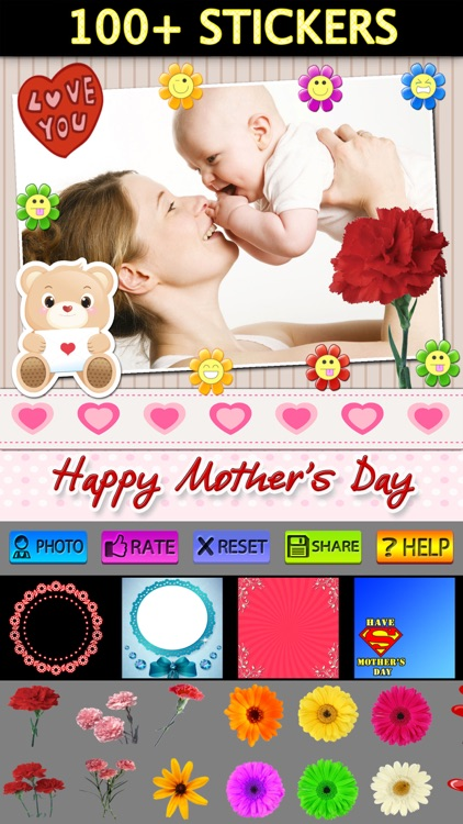 Mother's Day Frame + Sticker
