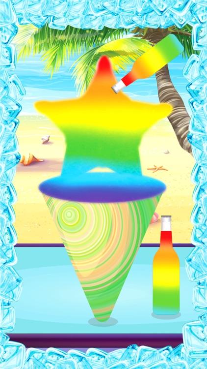 Rainbow Snow Cone Maker - Summer Frozen Food Stand screenshot-4