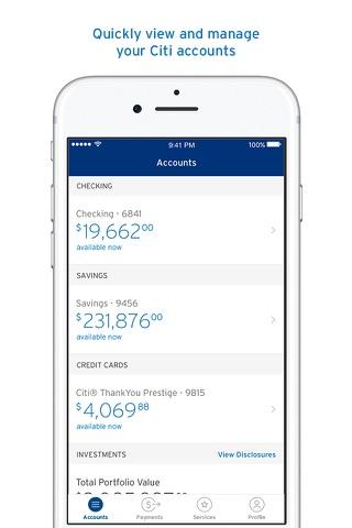 Citi Mobile® screenshot 1