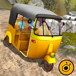 Off road tuk tuk auto rickshaw driving 3D simulator free 2016 - Take tourists to their destinations through hilly tracks