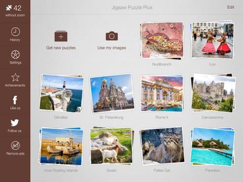 Пазлы + для iPad