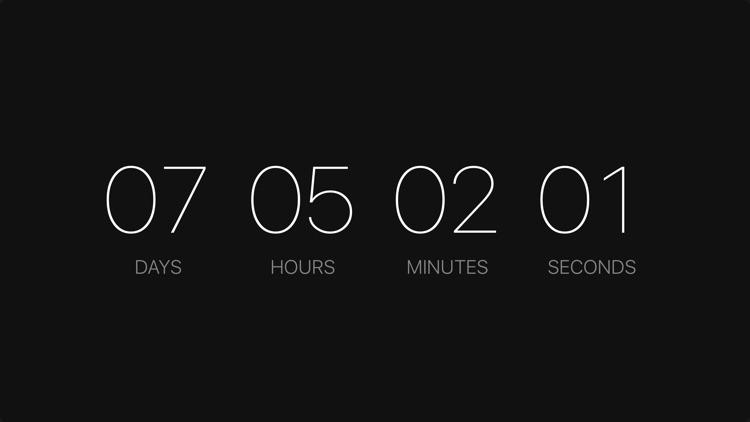 Countdown - Parallax Screen Saver
