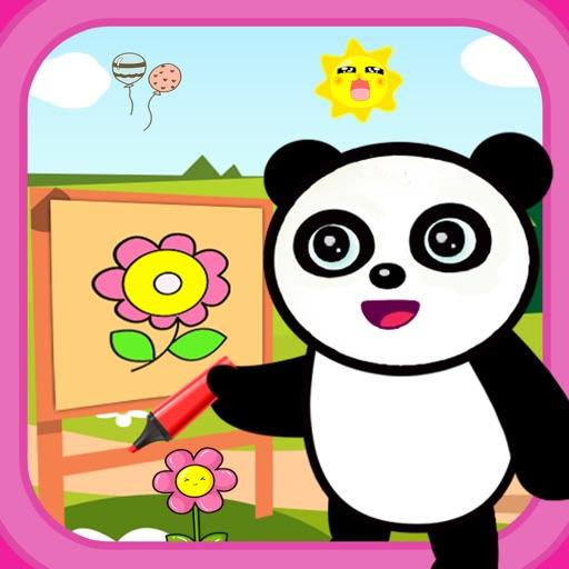 рисование и окраска панды