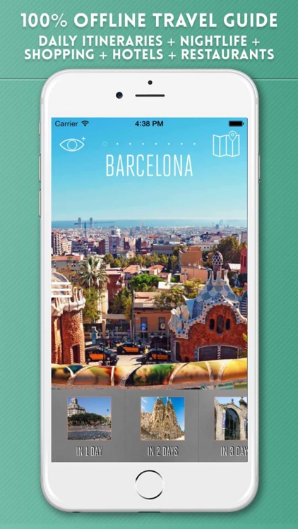 Barcelona City Guide & Offline Travel Map screenshot-0