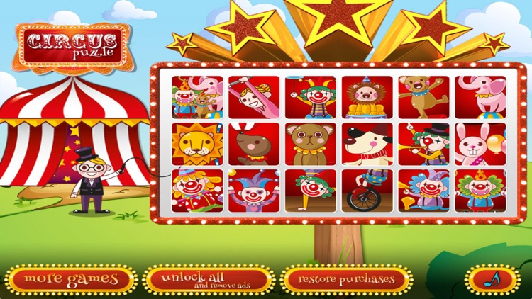 Circus puzzle for preschoolers screenshot-0