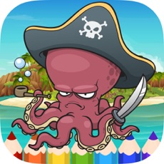 Activities of Pirate Coloring Book Pages - Painting Game for Kid