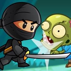 Activities of Ninja Kid vs Zombies - 8 Bit Retro Game