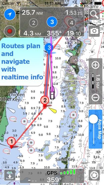 Aqua Map Michigan Lakes GPS HD screenshot-4