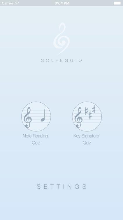 Solfeggio - Note & Key Signature Reading Practice screenshot-0