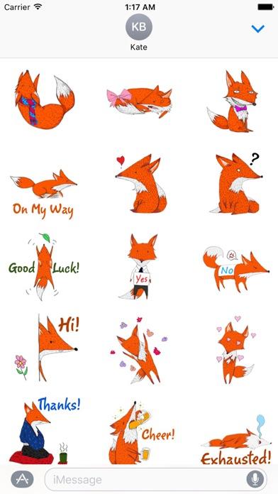 ... Screenshot #2 for Lovely Red Fox Foxmoji Sticker ...