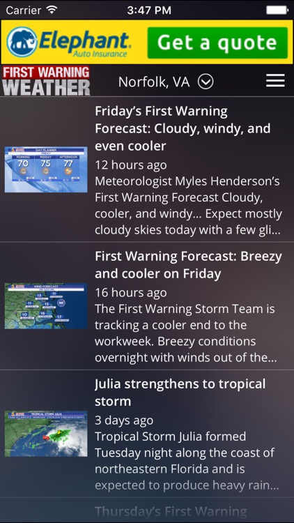 News Channel 3 - WTKR First Warning Weather