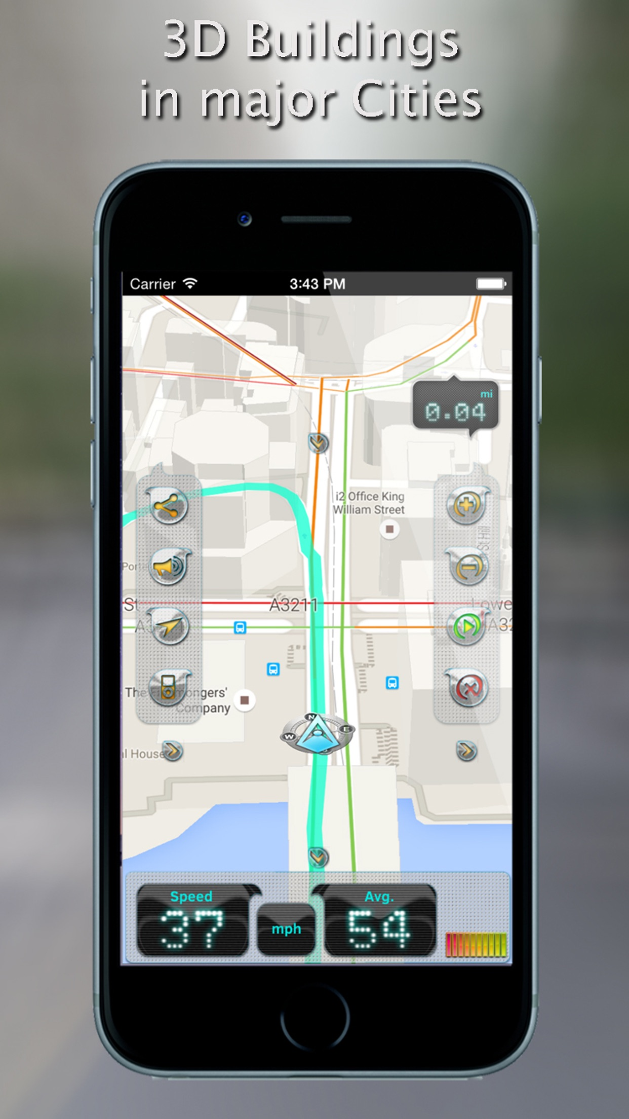 iWay GPS Navigation - Turn by turn voice guidance Screenshot