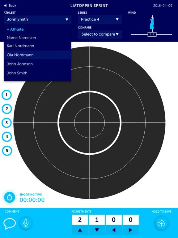 Biathlon Target Analyzer Screenshots