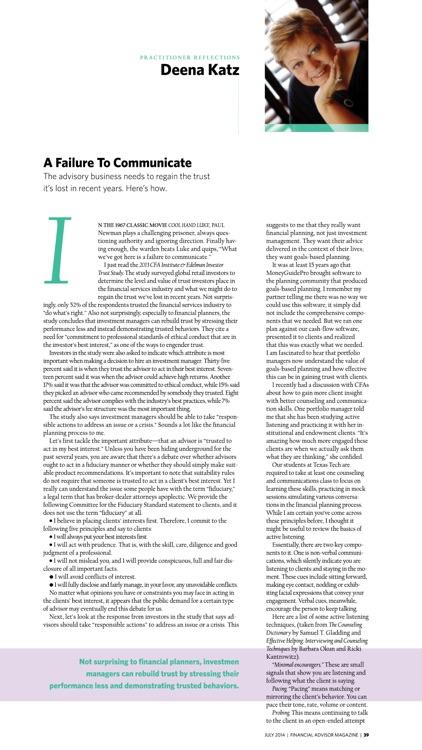 Financial Advisor Magazine