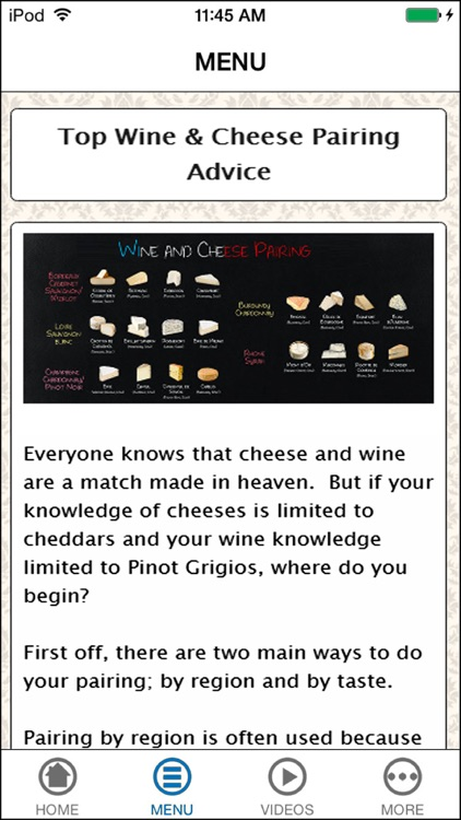 The Ultimate Guide To Pairing Wine with Cheese screenshot-2