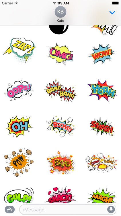 Comic Stickers screenshot-0