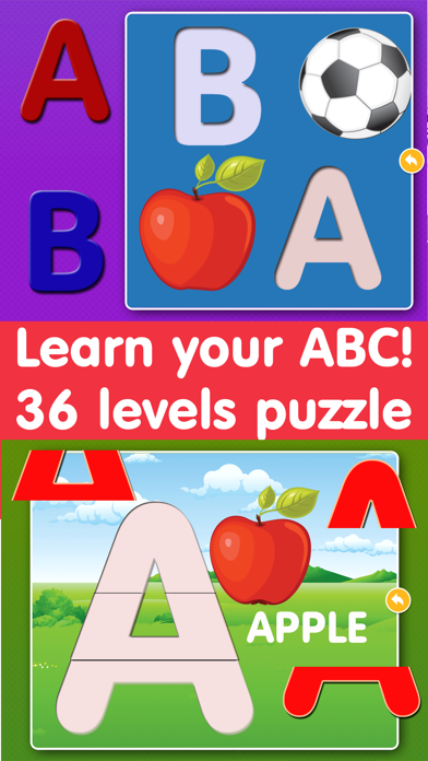 Alphabet Puzzles Games Kids & Toddlers free puzzle