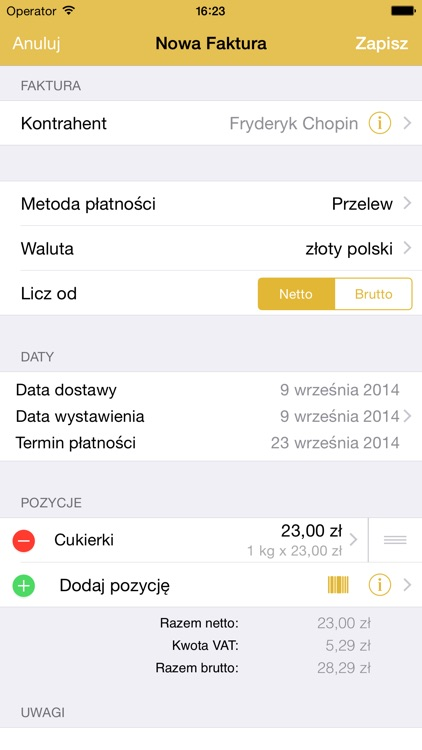 MojaFaktura   MyInvoice screenshot-0
